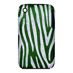 Skin4 White Marble & Green Leather (r) Iphone 3s/3gs