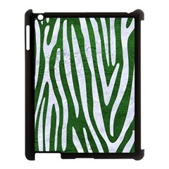 Skin4 White Marble & Green Leather (r) Apple Ipad 3/4 Case (black)
