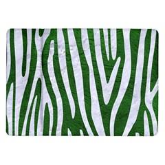 Skin4 White Marble & Green Leather (r) Samsung Galaxy Tab 10 1  P7500 Flip Case by trendistuff