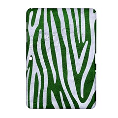 Skin4 White Marble & Green Leather (r) Samsung Galaxy Tab 2 (10 1 ) P5100 Hardshell Case