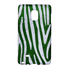 Skin4 White Marble & Green Leather (r) Samsung Galaxy Note Edge Hardshell Case
