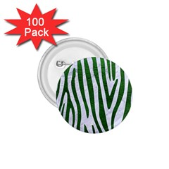 Skin4 White Marble & Green Leather 1 75  Buttons (100 Pack)