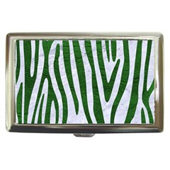 Skin4 White Marble & Green Leather Cigarette Money Cases