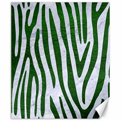 Skin4 White Marble & Green Leather Canvas 20  X 24