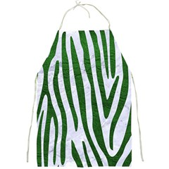Skin4 White Marble & Green Leather Full Print Aprons by trendistuff
