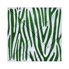Skin4 White Marble & Green Leather Acrylic Tangram Puzzle (6  X 6 )