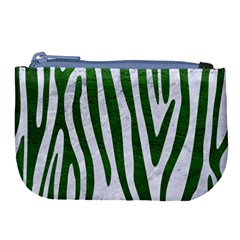 Skin4 White Marble & Green Leather Large Coin Purse