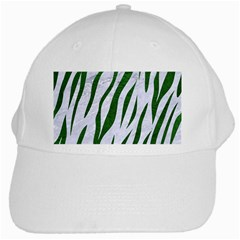 Skin3 White Marble & Green Leather (r) White Cap