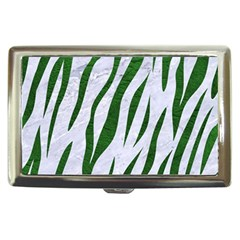 Skin3 White Marble & Green Leather (r) Cigarette Money Cases