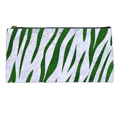 Skin3 White Marble & Green Leather (r) Pencil Cases