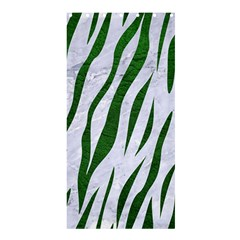 Skin3 White Marble & Green Leather (r) Shower Curtain 36  X 72  (stall)