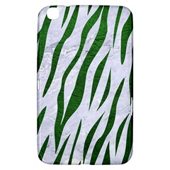 Skin3 White Marble & Green Leather (r) Samsung Galaxy Tab 3 (8 ) T3100 Hardshell Case