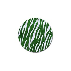 Skin3 White Marble & Green Leather Golf Ball Marker (10 Pack)