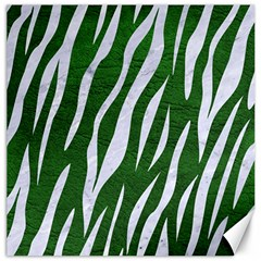 Skin3 White Marble & Green Leather Canvas 20  X 20