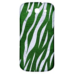 Skin3 White Marble & Green Leather Samsung Galaxy S3 S Iii Classic Hardshell Back Case