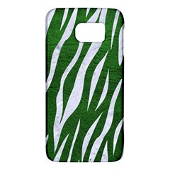 Skin3 White Marble & Green Leather Samsung Galaxy S6 Hardshell Case