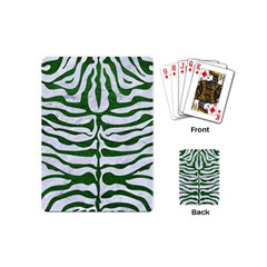 Skin2 White Marble & Green Leather (r) Playing Cards (mini)
