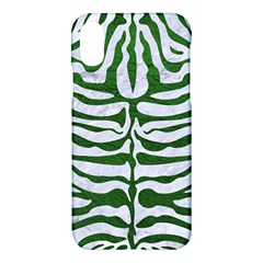 Skin2 White Marble & Green Leather (r) Apple Iphone X Hardshell Case