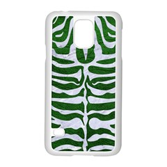 Skin2 White Marble & Green Leather Samsung Galaxy S5 Case (white)