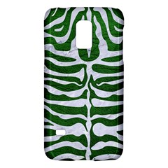 Skin2 White Marble & Green Leather Samsung Galaxy S5 Mini Hardshell Case