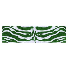 Skin2 White Marble & Green Leather Satin Scarf (oblong)