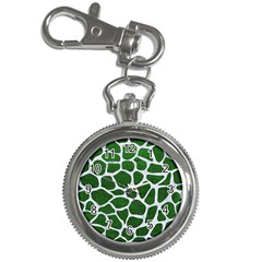 Skin1 White Marble & Green Leather (r) Key Chain Watches