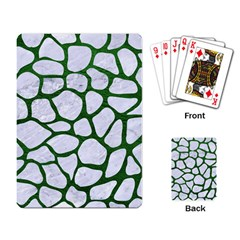 Skin1 White Marble & Green Leather Playing Card
