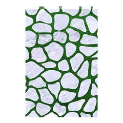 Skin1 White Marble & Green Leather Shower Curtain 48  X 72  (small)