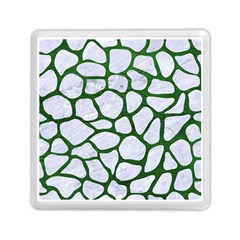Skin1 White Marble & Green Leather Memory Card Reader (square)