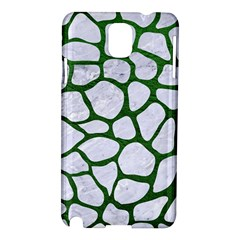 Skin1 White Marble & Green Leather Samsung Galaxy Note 3 N9005 Hardshell Case