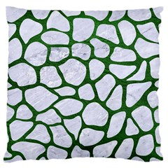 Skin1 White Marble & Green Leather Standard Flano Cushion Case (one Side)