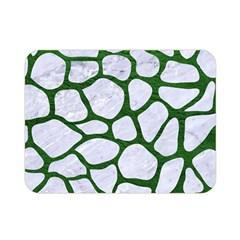 Skin1 White Marble & Green Leather Double Sided Flano Blanket (mini)  by trendistuff