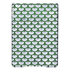 Scales3 White Marble & Green Leather (r) Ipad Air Hardshell Cases