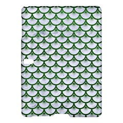 Scales3 White Marble & Green Leather (r) Samsung Galaxy Tab S (10 5 ) Hardshell Case