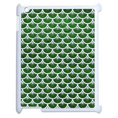 Scales3 White Marble & Green Leather Apple Ipad 2 Case (white)