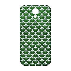 Scales3 White Marble & Green Leather Samsung Galaxy S4 I9500/i9505  Hardshell Back Case