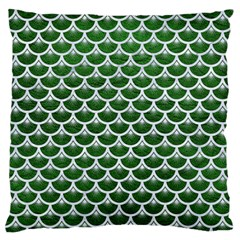 Scales3 White Marble & Green Leather Standard Flano Cushion Case (two Sides)