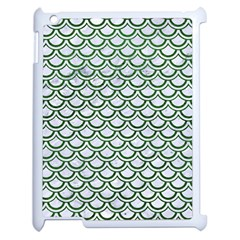Scales2 White Marble & Green Leather (r) Apple Ipad 2 Case (white)