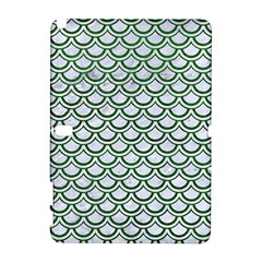 Scales2 White Marble & Green Leather (r) Samsung Galaxy Note 10 1 (p600) Hardshell Case