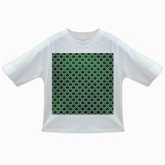 Scales2 White Marble & Green Leather Infant/toddler T Shirts