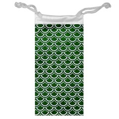 Scales2 White Marble & Green Leather Jewelry Bags