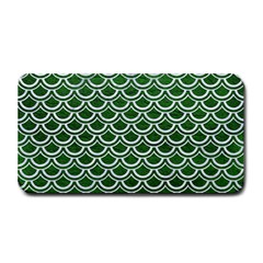 Scales2 White Marble & Green Leather Medium Bar Mats