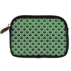 Scales2 White Marble & Green Leather Digital Camera Cases