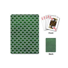 Scales2 White Marble & Green Leather Playing Cards (mini)