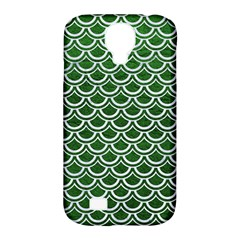 Scales2 White Marble & Green Leather Samsung Galaxy S4 Classic Hardshell Case (pc+silicone)