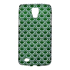 Scales2 White Marble & Green Leather Samsung Galaxy S4 Active (i9295) Hardshell Case