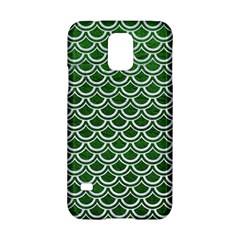 Scales2 White Marble & Green Leather Samsung Galaxy S5 Hardshell Case