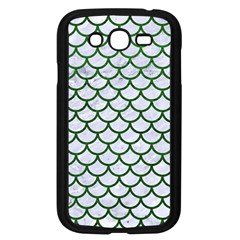 Scales1 White Marble & Green Leather (r) Samsung Galaxy Grand Duos I9082 Case (black)