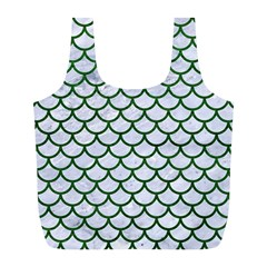 Scales1 White Marble & Green Leather (r) Full Print Recycle Bags (l)