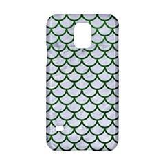 Scales1 White Marble & Green Leather (r) Samsung Galaxy S5 Hardshell Case